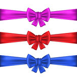 Set colorful gift bows with ribbons Royalty Free Stock Image
