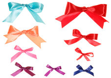 Set of colorful gift bows with ribbons Royalty Free Stock Photo