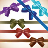Set of colorful gift bows. Royalty Free Stock Photography