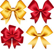Set of colorful gift bows. Vector illustration. Created with gradient mesh. Royalty Free Stock Photography