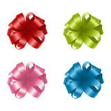 Set of colorful gift bows. Vector illustration Stock Images