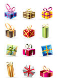 Set of  colorful gift boxes Royalty Free Stock Photography