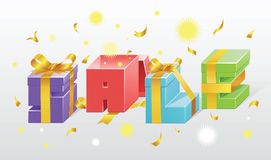 Set of colorful gift boxes Stock Image
