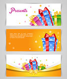 Set of colorful gift boxes with bows. Vector illustration (eps 10) of Set of colorful gift boxes with bows vector illustration