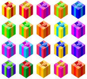 Set of colorful gift boxes Royalty Free Stock Image