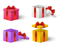Set of colorful gift boxes Stock Images