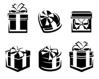 Set of colorful gift boxes. Vector Royalty Free Stock Photo