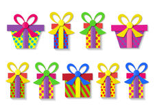 A set of colorful gift boxes. Vector Stock Images