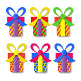 A set of colorful gift boxes. Vector Royalty Free Stock Photo