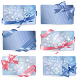 Set of colorful Gift cards Stock Images