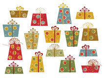 Set of colorful gifts Royalty Free Stock Photography