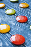 A set of colorful glass buttons for clothes Royalty Free Stock Photo