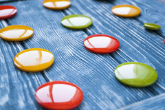 A set of colorful glass buttons for clothes Royalty Free Stock Images