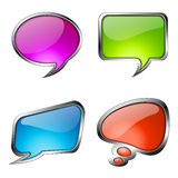 Set of colorful glass speech bubbles Stock Photography