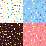 Set of  Colorful Glaze Backgrounds Royalty Free Stock Photos