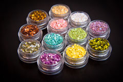 Set of colorful glitter make up Royalty Free Stock Photos