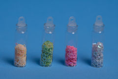 Set of colorful glitters Royalty Free Stock Photography
