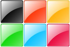 Set of colorful glossy buttons Stock Photo