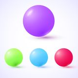 Set of colorful glossy spheres Royalty Free Stock Image