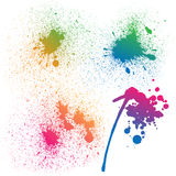 Set of 4  colorful gradient rainbow grunge Stock Image