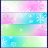 Set of colorful gradient winter banners Stock Photography