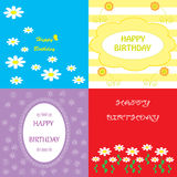 Set colorful  greeting happy birthday Royalty Free Stock Image