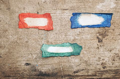 Set of colorful grungy banner Stock Photo
