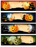 Set of colorful Halloween banners. Royalty Free Stock Photos