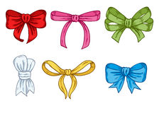Set of colorful hand drawn bows. Stock Photography