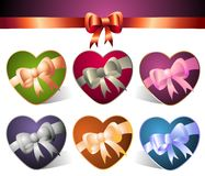 Set of colorful hearts Royalty Free Stock Images
