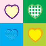 Set of colorful hearts. Set of four colorful hearts vector illustration