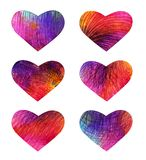 Set of colorful hearts. Vector, EPS 10 Stock Image