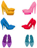 Set of colorful high heels Stock Photos