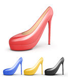 Set of colorful high heels. Stock Photography