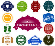 Set of colorful hipsters vintage labels Royalty Free Stock Photography