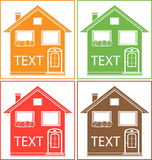 Set colorful home with place for text Stock Photography