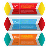 Set of Colorful Horizontal Banners. Royalty Free Stock Image