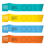 Set of Colorful Horizontal Paper Banners. stock illustration