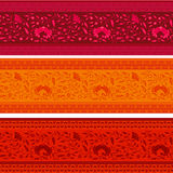 Set of colorful horizontal vintage floral banners Royalty Free Stock Photography
