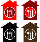 House with restaurant sign Stock Images