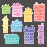 Set colorful houses Royalty Free Stock Images