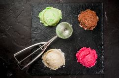 Set of colorful ice-cream Stock Photos