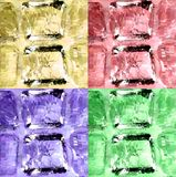 Set colorful ice cubes. Vector background. Close-up of ice cubes. Set vector illustration Stock Image