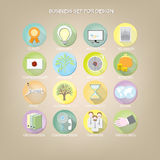 Set 16 colorful icons for business site. vector illustration Royalty Free Stock Image