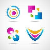 Set of colorful icons Stock Photos