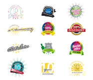 Set of colorful icons royalty free illustration
