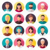 Set of colorful  icons. people. Cartoon illustration Vector Illustration