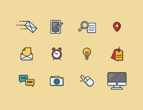 A set of colorful icons Stock Photography