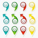 Set of infographic elements, arrows and smileys Stock Image