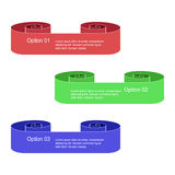 Set of Colorful Infographic Scrolls  Isolated on White. Roll Options Banners. Templates for   Banners, Badges, Posters and Sticker Stock Images